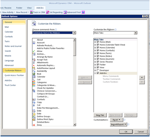 Outlook 2010 & CRM for Outlook Client – It's a Dynamic Duo