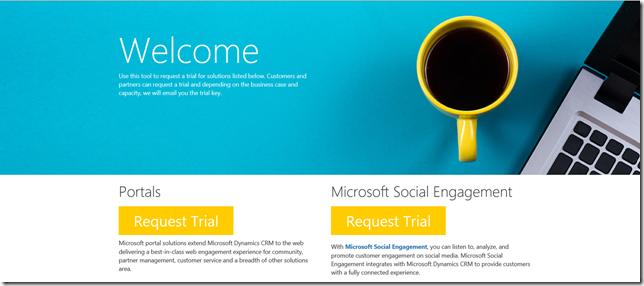 CRM Online configurazione della versione trial
